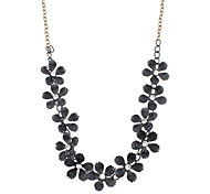 Black Camellia Short Necklace