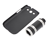 Optical 8X Zoom Telescope Camera Lens Manual Focus with Hard Back Case for Samsung Galaxy S3 I9300