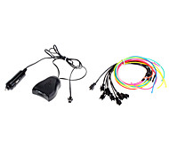 1 Meter Flexible Car Decorative Neon Light 2.3mm EL Wire Rope with Sound Activated
