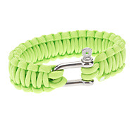 Para-Cord Survival Bracelet with Iron Connection Buckle A (3 Colors)