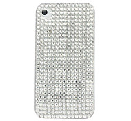 Shining Zircon Pattern Hard Case for iPhone 4/4S (White)