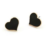 Earring Stud Earrings Jewelry Women Daily Alloy Black / White / Red