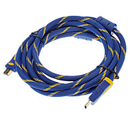3M 10FT  V1.3  Blue 1080P HDMI  with Double Magnetic Rings Male to Male High Speed Standard  HDMI Cable (Gold Plated)