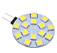 G4 2W 15 SMD 5050 150 LM Natural White LED Bi-pin Lights AC 12 V
