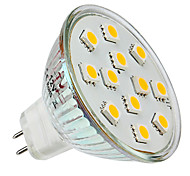 GU5.3 1.5 W 12 SMD 5050 150 LM Warm White MR16 Spot Lights DC 12 V