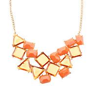 collar de diamantes cuadrado (comprar 1 get 1 de regalo)