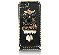 Acrylic Zircon Owl Pattern Hard Case for iPhone 5/5S(Random Colors)