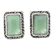 OLL Blue Opal Square Earrings