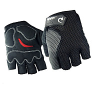 Fashion Design Mesh-Back Nubuck-Front Half-Finger Guanto da ciclista (3 colori)