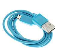 Cable USB A Macho a Micro USB Macho, Azul (1M)