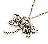 Vintage Alloy Dragonfly Pattern Necklace