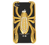Zirkon goldenen Käfer harter Fall für iPhone 4/4S