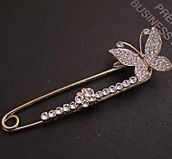Women's Full Zircon Butterfly Brooch