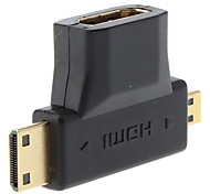 HDMI AM V1.3 to Mini HDMI Male + Micro HDMI HD Converter