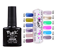 1PCS Soak-off UV Color Gel No.109-No.120 (10ml, farbig sortiert)