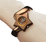 Women's Star Style Metal Analog Quartz Bracelet Watch (Bronze)
