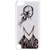 Back of Girl Pattern Hard Case with Rhinestone for iPod Touch 5