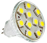 Focos LED MR11 GU4(MR11) 2W 10 SMD 5050 150 LM Blanco Natural DC 12 V