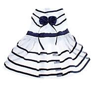 Dog Dress Blue Summer Stripe Cosplay