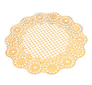 Gold Polyester Round Coasters