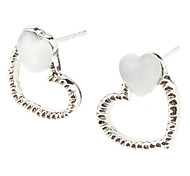 Stud Earrings Alloy Heart Heart Jewelry Daily
