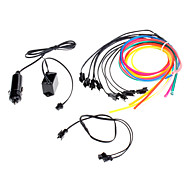 3 Meter Flexible Car Decorative Neon Light 4mm EL Wire Rope with Car Light Inverter