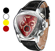 WINNER® Men's Triangle Style Auto-Mechanical Tourbillon Leather Band Watch Cool Watch Unique Watch