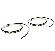 Wasserdicht 30cm 9W 18x5730SMD Weiß LED-Streifen-Licht für Auto (12V, 1-Pair)
