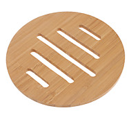 Beige Bamboo Round Coasters