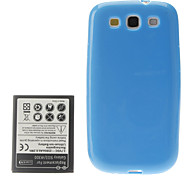 TPU Soft Case with Battery for Samsung Galaxy S3 I9300 (2500mAh)