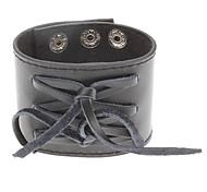 Weave Bowknot Wide Version Leather Bracelet