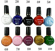 10 couleurs pures couleurs Gel UV nail art 10ml