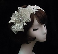 Women's Lace/Rhinestone/Net Headpiece - Special Occasion Headbands