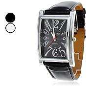 PU quartz analogique montre-bracelet pour hommes (couleurs assorties)