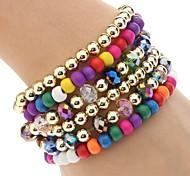z&X® multistrato braccialetto di perline colorate