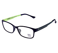 Unisex Transparent Lens Black Frame Oval Eyeglasses