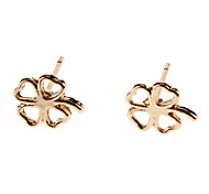 Four Leaf Clover Metal Stud Earrings