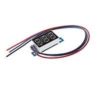 Preciso de três fios Proteção reversa da polaridade Voltage Meter Digital Medidor de Medição de tensão 0V-9.99V