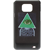 Eye e Triangolo modello Custodia rigida per Samsung Galaxy S2 I9100
