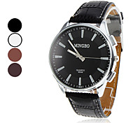 Herren Analog Quarz PU-Armbanduhr (farbig sortiert)