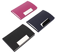 Colorful PU Leather Business Card Holder (Random Color)