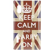 Crown UK Flag Pattern Hard Case for LG Optimus L5 E612