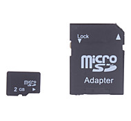 2GB Micro SD/TF SDHC Memory Card and Micro SD SDHC to SD Adapter