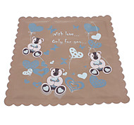 Foldable Cute Cartoon Pattern Square Pet Ice Mat for Dogs(35 x 35cm)