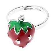 Lovely Strawberry Adjustable Ring