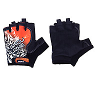 Black+Orange Comfortable Short-finger Gloves for Cycling