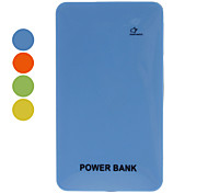 Slim Portable Power Bank for Mobile Devices (6000mAh, orange / jaune / bleu / vert)