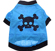 Skull Style Pure Cotton T-shirt for Dogs (XS-L)