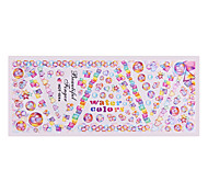 5PCS Water Transfer Printing Nail Stickers Hot A Series Multi-color