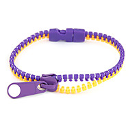 Fluorescence Color Zipper Pattern Bracelet(Assorted Colors)